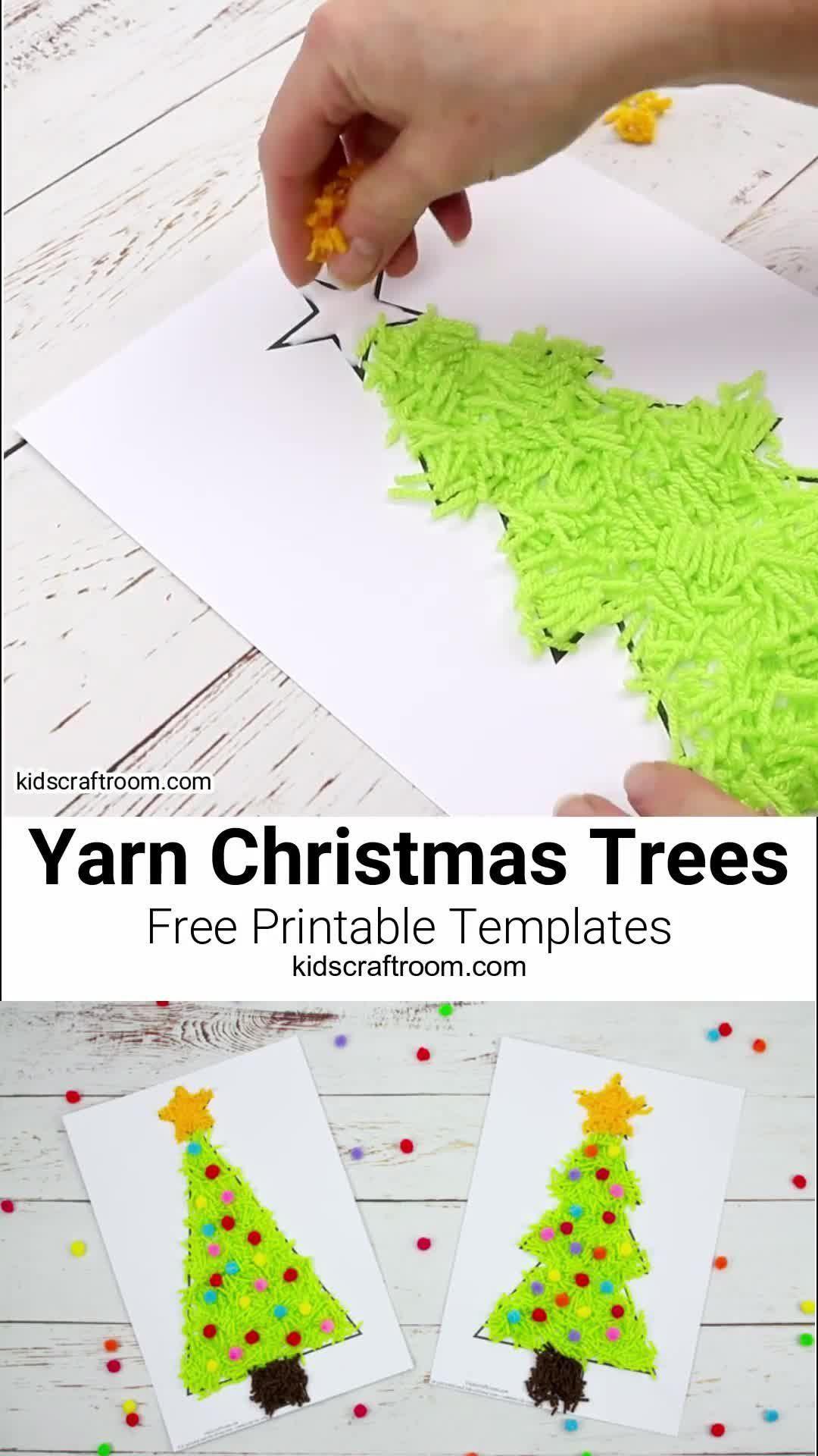 Photo of Scrap Yarn Christmas Tree Craft