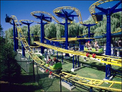 ricochet at kings dominion i rode this with 2 of my friends like 5