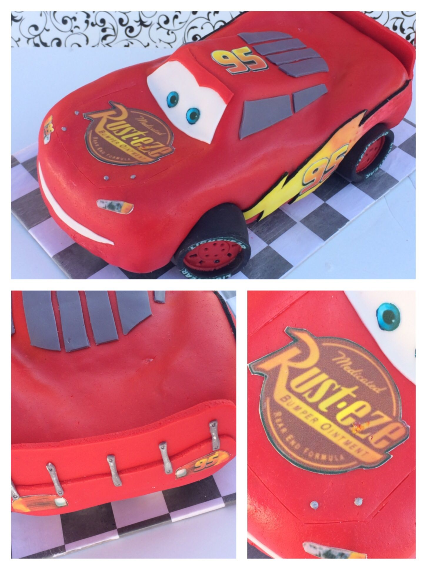 3D Lightning McQueen Cars Cake Tutorial HowToCookThat Cakes