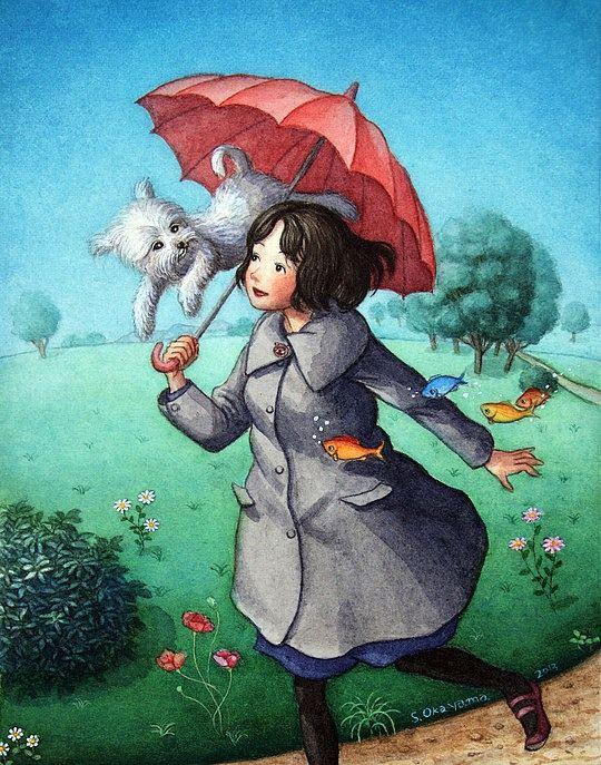 Beautiful Illustrations by Shinya Okayama http://www.cruzine.com/2013/07/24/beautiful-illustrations-shinya-okayama/