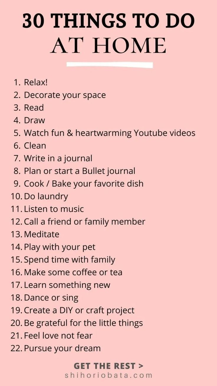 20 Things to Do At Home When Bored   Things to do at home, Things ...
