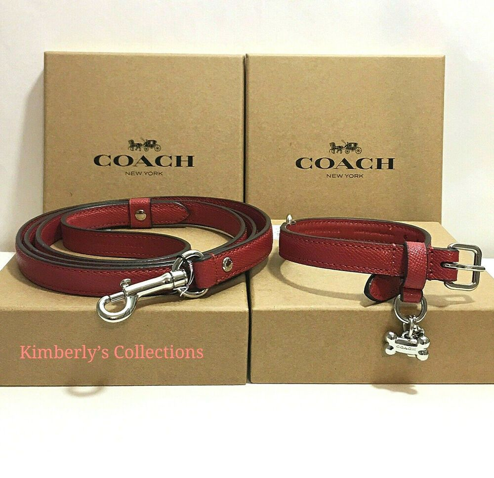 WESTIE COLLAR/&LEASH SET RED TRADITIONAL FREE SHIP USA