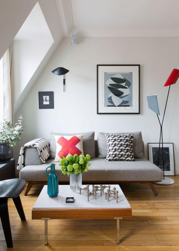 A Decorator\u0027s Own Retro-Inspired Parisian Pad Cozy, Parisians and