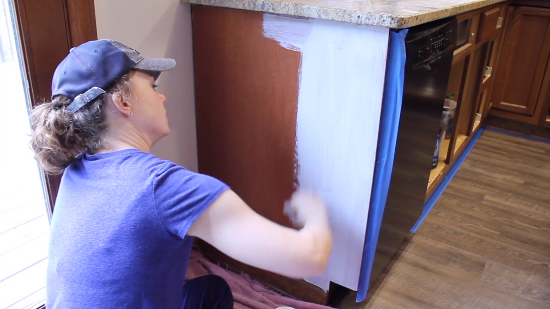 How to Paint Kitchen Cabinets - Painting kitchen cabinets, Painting kitchen cabinets white, Painting cabinets, Kitchen paint, Distressed kitchen cabinets, Kitchen cabinets - How to paint kitchen cabinets using General Finishes Milk Paint  Step by step tutorial and video shows you how to prep and paint for a durable finish!