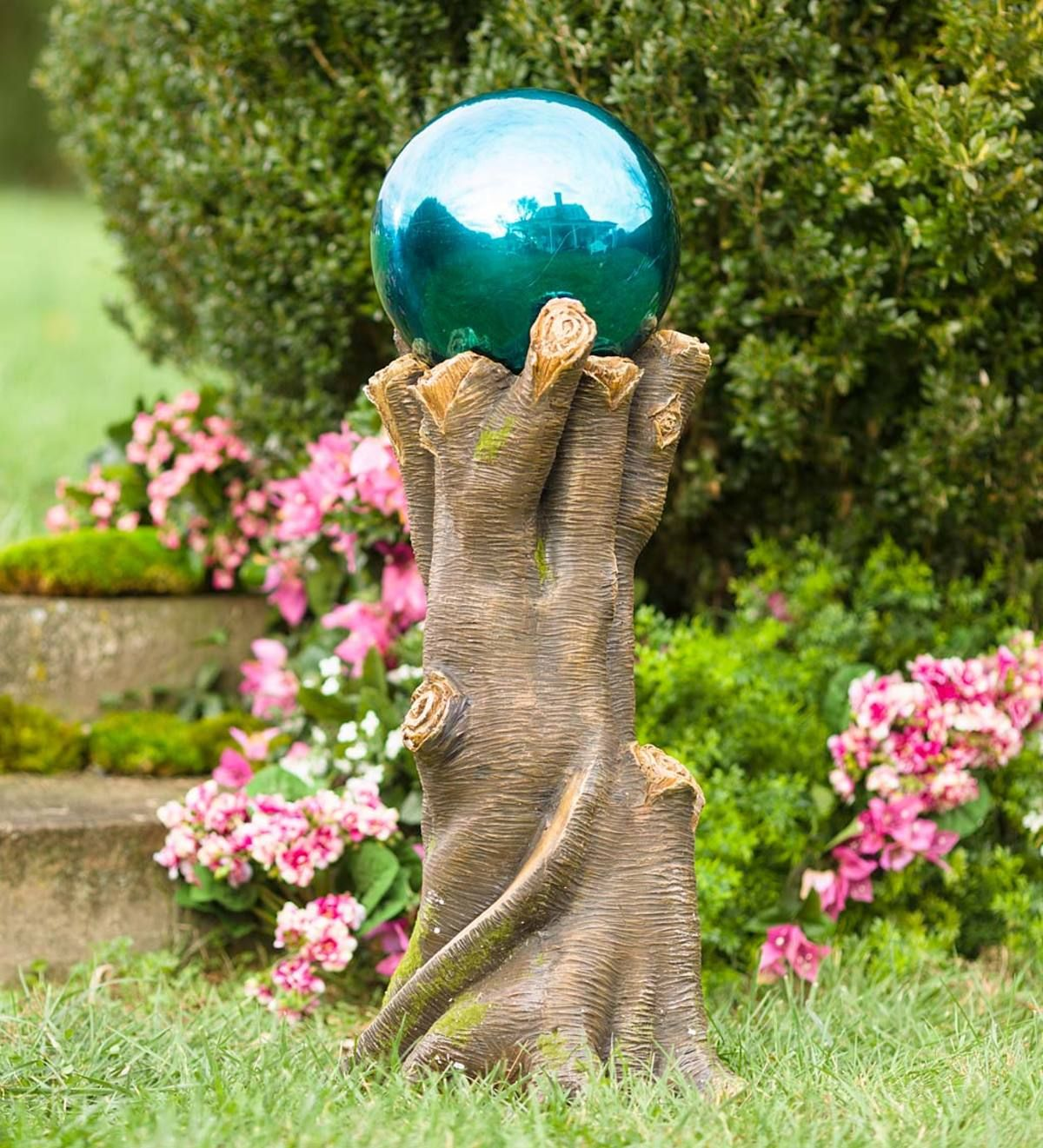 Tree Stump Gazing Ball Stand Adds Lifelike Charm To Your Garden If You Re Stumped About How To Take Your Garden Dec Garden Stand Unique Garden Art Gazing Ball