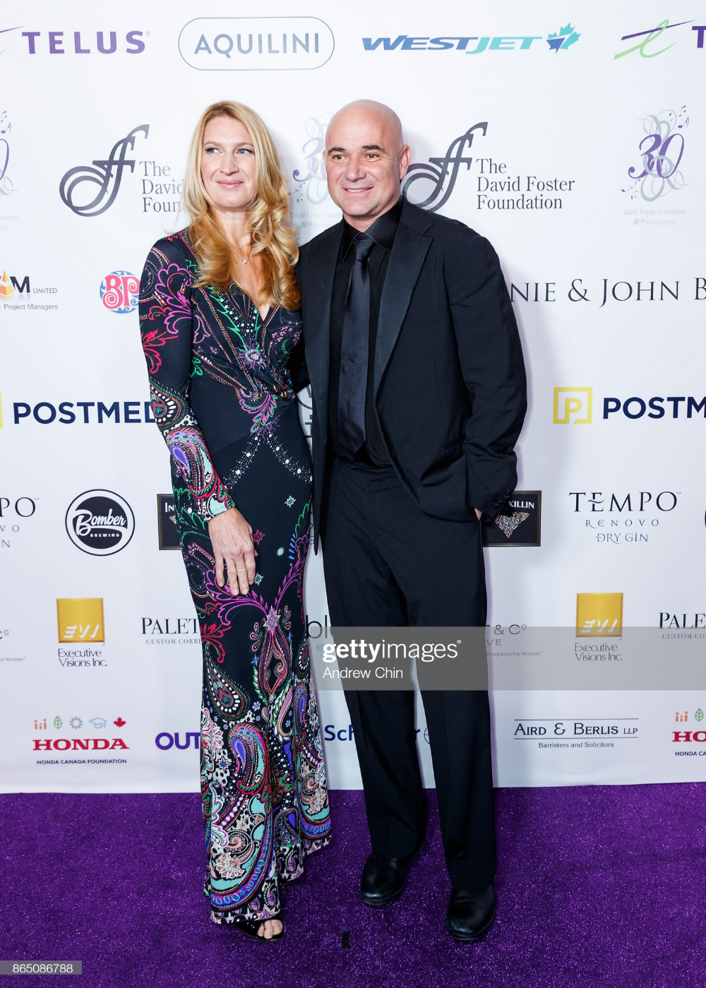 Steffi Graf And Andre Agassi Arrive For The David Foster Foundation Steffi Graf The Fosters David