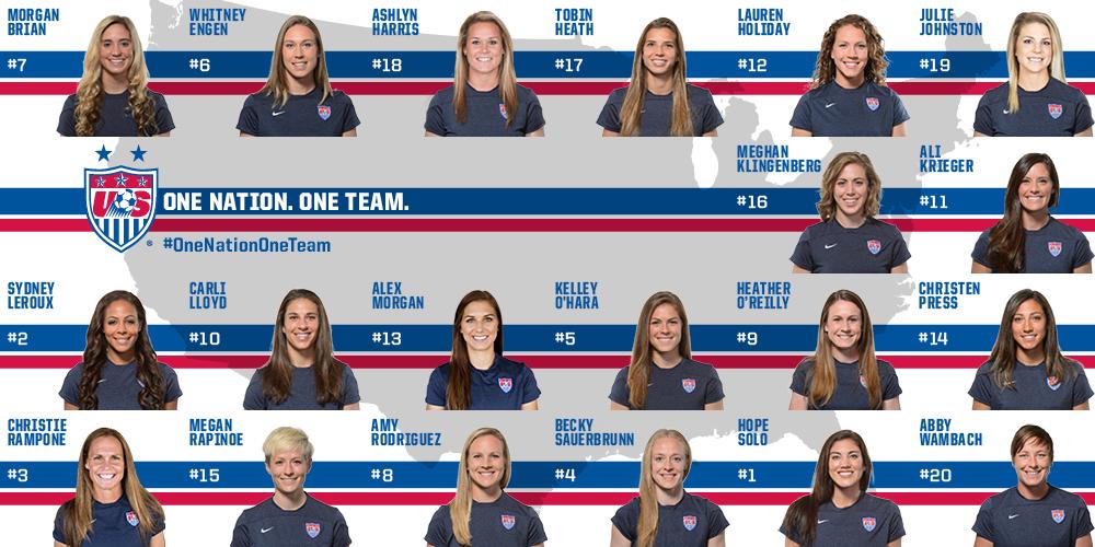 U S Women S National Team Usa Soccer Women Us Women S National Soccer Team Girls Soccer Team