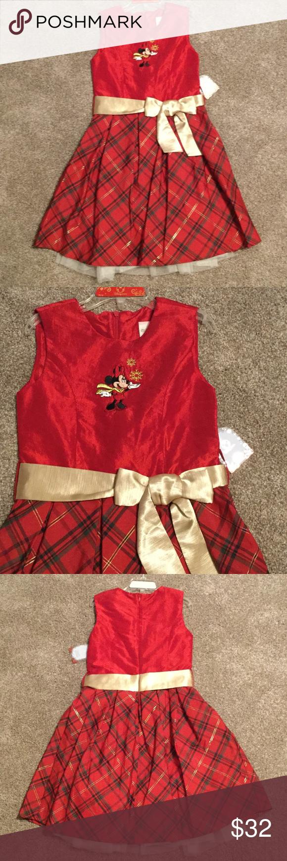 New Disney store Xmas dress NWT