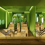 """A instalação """"Jardim da Luxúria"""" é uma experiência que se estende desde a entrada até a """"Bilheteria da Luxúria"""" Criada a partir da planta de um labirinto e suas paredes erguidas verticalmente e revestidas com espelhos em todas as suas faces. O projeto tem como objetivo criar provocações nos visitantes através de seus reflexos e espelhações obtidas dos ângulos criados pelas linhas paralelas deste labirinto e consequentemente com as refrações criadas com a iluminação e sua espelhações…"""