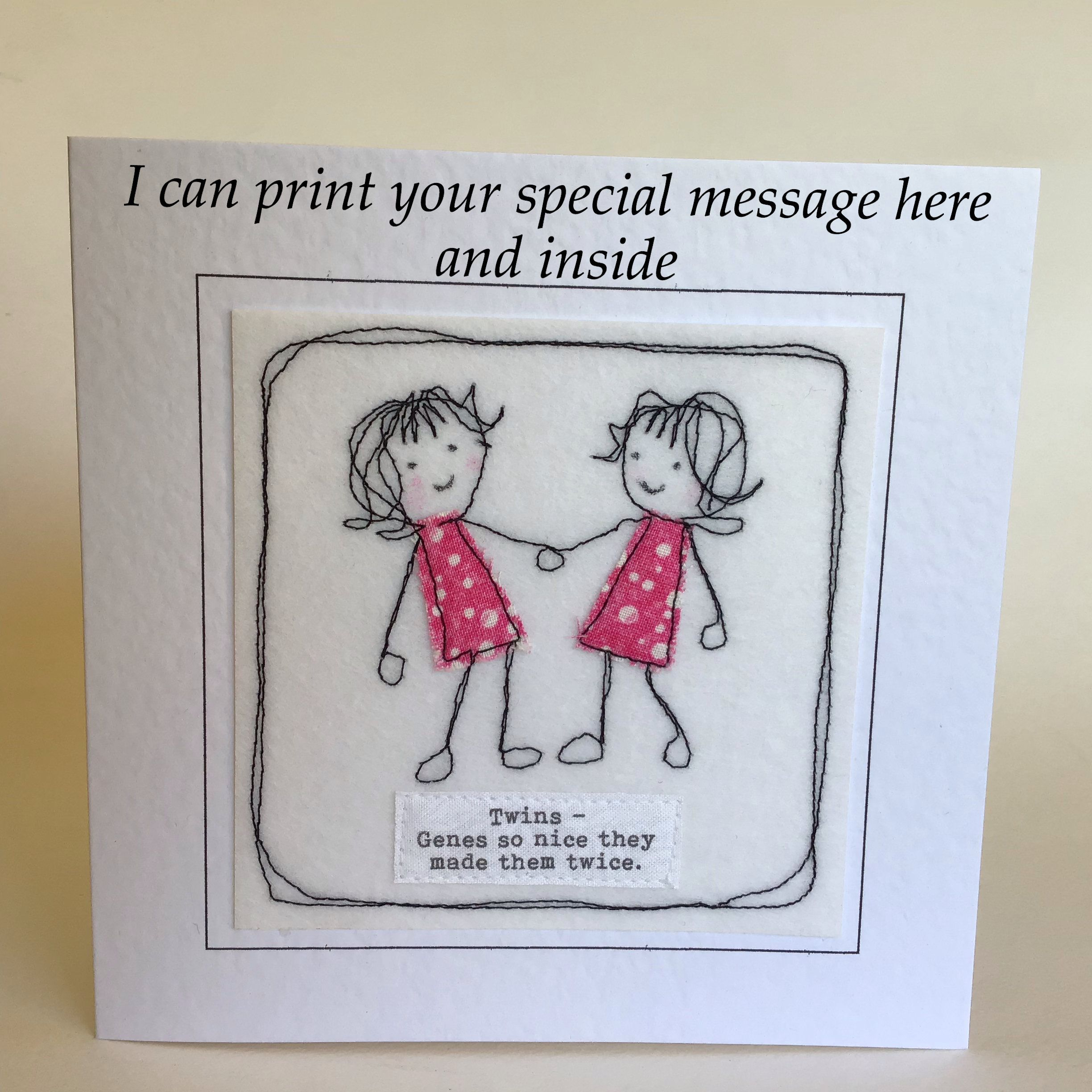 Twin Sister Birthday Card With Special Quote To My Twin Etsy Sister Birthday Card Happy Birthday Cards Printable Birthday Cards