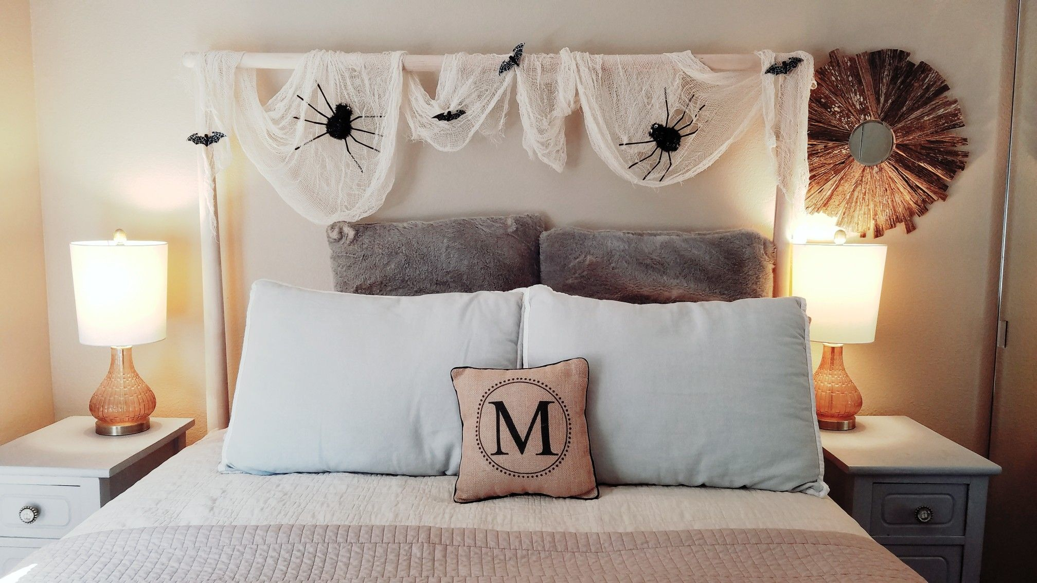 My Diy Halloween Decorations Spider Web Cost $6 Total With