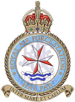 RAF Hal Far Malta Royal Air Force MOD Crest Embroidered Patch