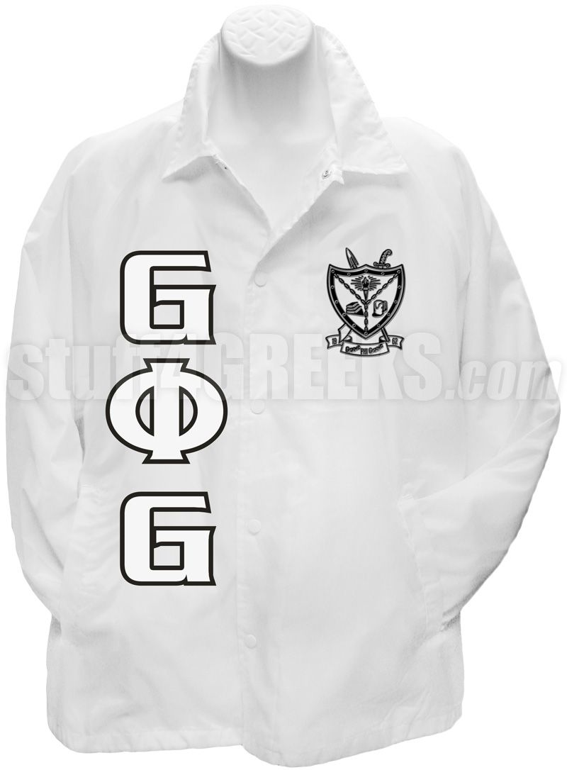 Groove Phi Groove Line Jacket with Letters and Crest, White Item Id ...