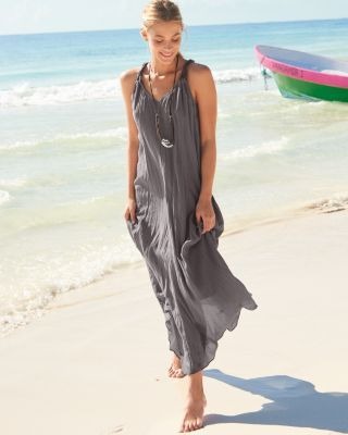 2cc4f96832a Cotton Gauze Long Cover-Up - Regular GarnetHill | fashion | Cover up ...