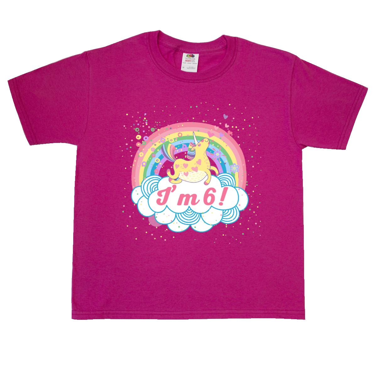 6th Birthday Unicorn Rainbow Girls Youth T Shirt Pink 1699 Unicornbirthday 6thbirthday Homewiseshopperkids