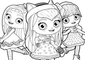 disegni da colorare little charmers