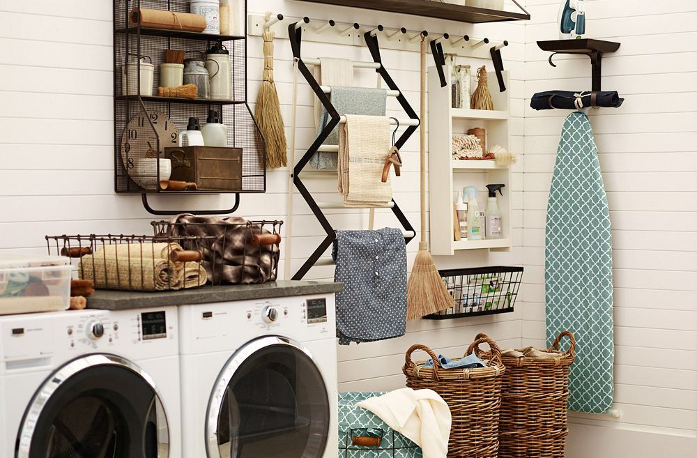 10 Organizing Tips From A Pottery Barn Designer Laundry Room