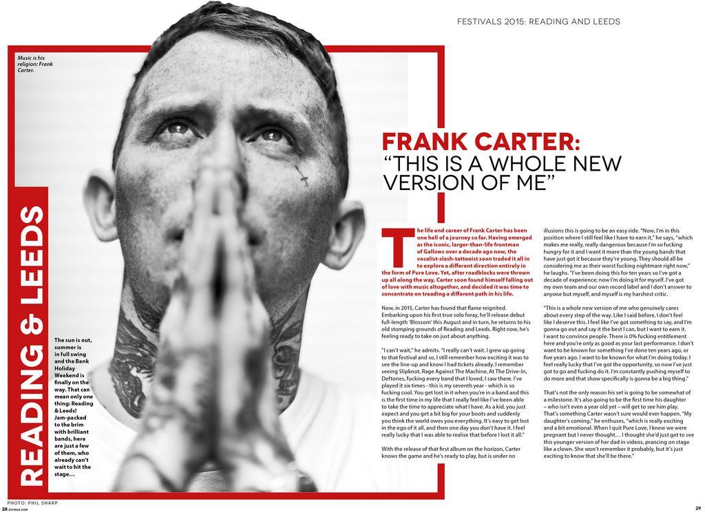Frank Carter - DIY Magazine