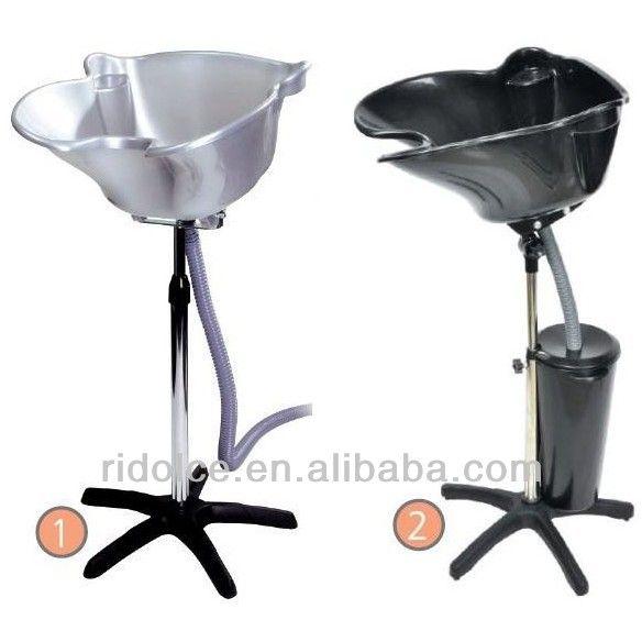 Portable shampoo basin with bucket hair wash equipment for Portable beauty chair