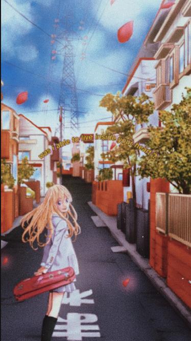 Kaori Miyazono Wallpaper Your Lie In April Aesthetic Wallpaper
