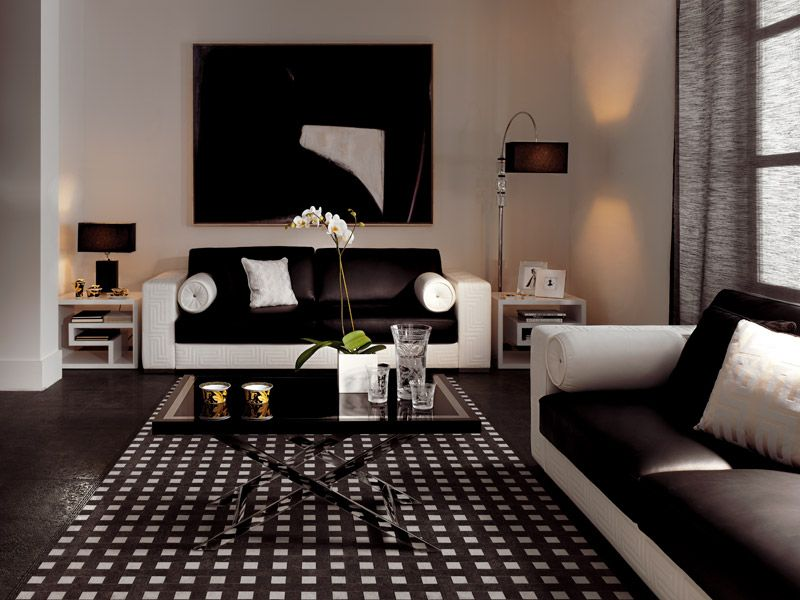 Versace Tiles Palace Stone · White Living RoomsModern Living RoomsIdeas ...