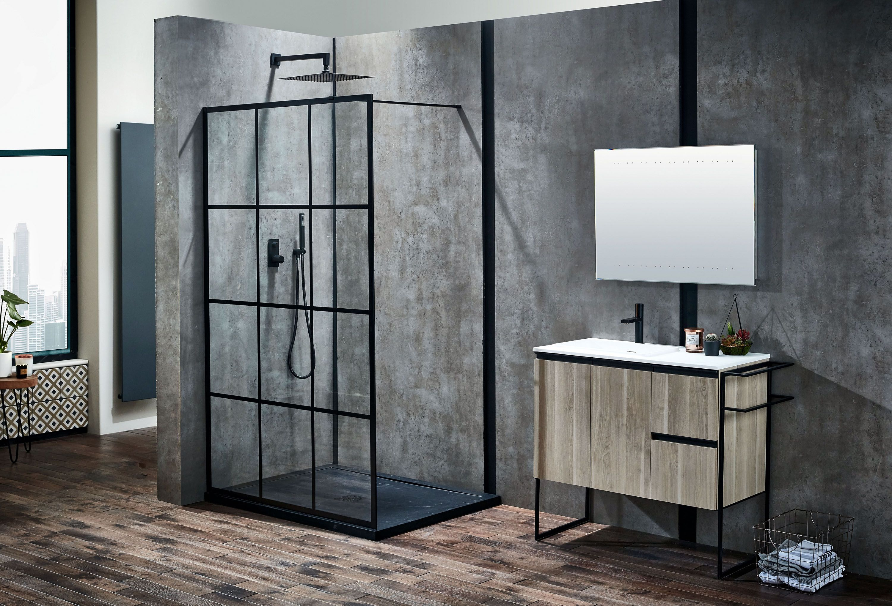 Walk In Shower With Belgian Style Shower Screen Shower Panels Shower Enclosure Walk In Shower