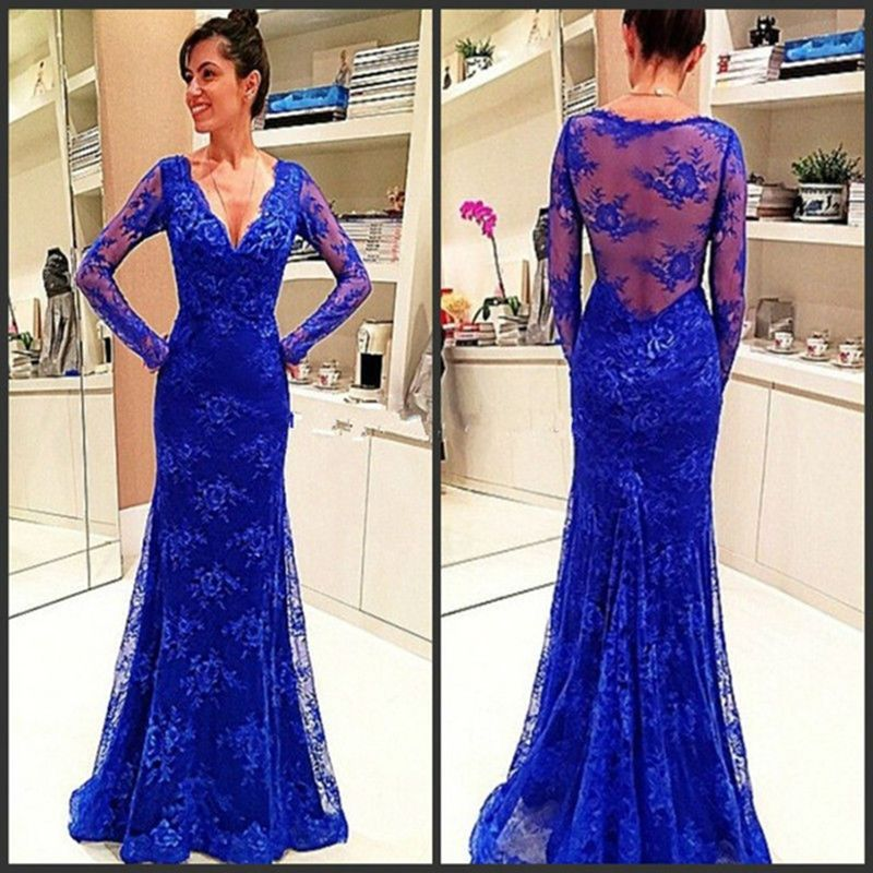Prom Dress,Prom Dresses, Royal Blue Prom Dresses,Lace Prom Dresses ...