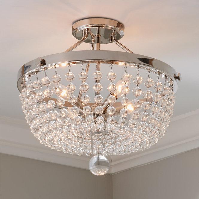 Lucent Crystal Semi Flush Ceiling Light In 2020 Semi Flush Ceiling Lights Ceiling Lights Flush Ceiling Lights