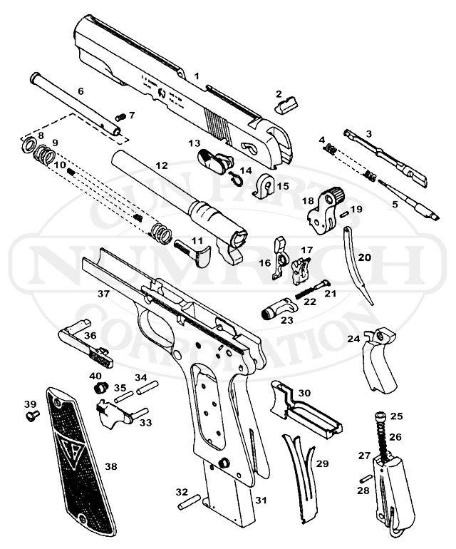 Radom 1935 P 35 Schematic Image Radom P35 9mm Pistol