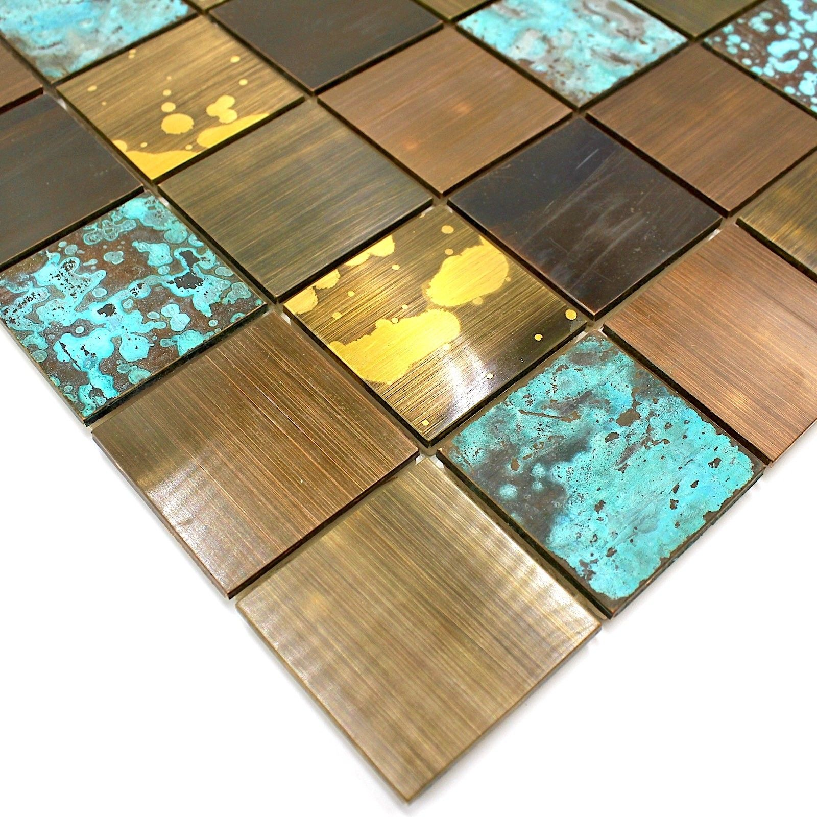 Plaque Sur Carrelage Cuisine carrelage metal bronze mosaique cuisine et salle de bain