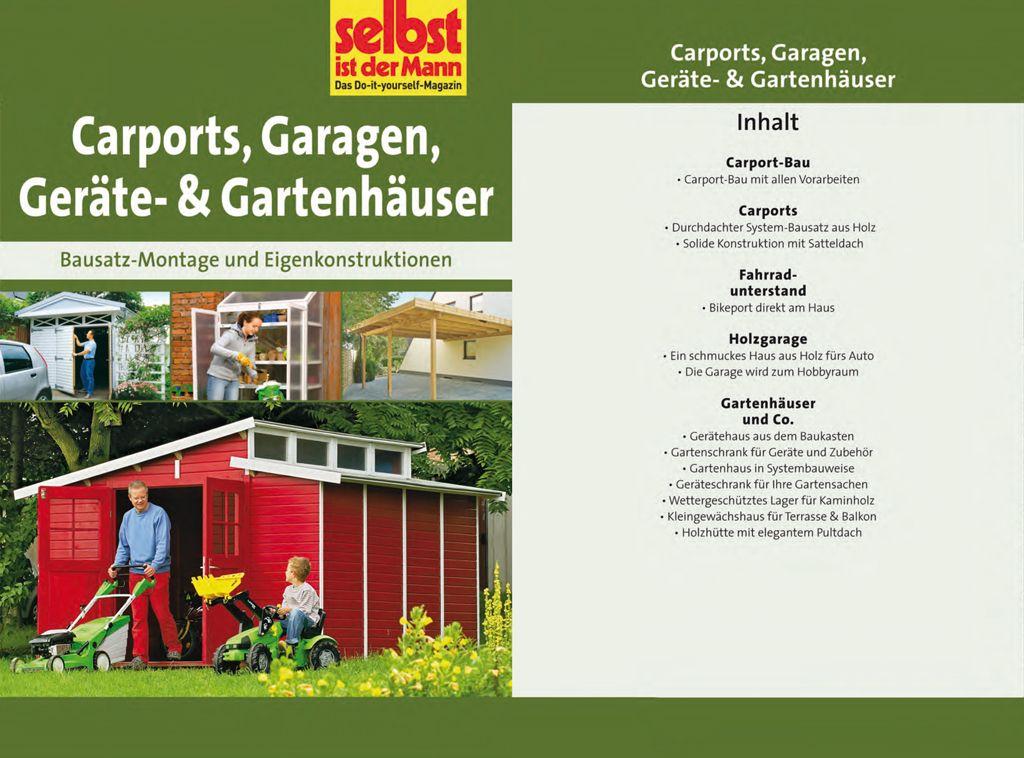 Carports, Garagen, Geräte & Gartenhäuser Carports, Holz