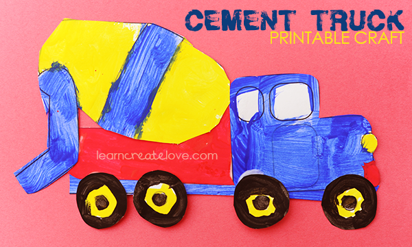 { Printable Cement Truck Craft }