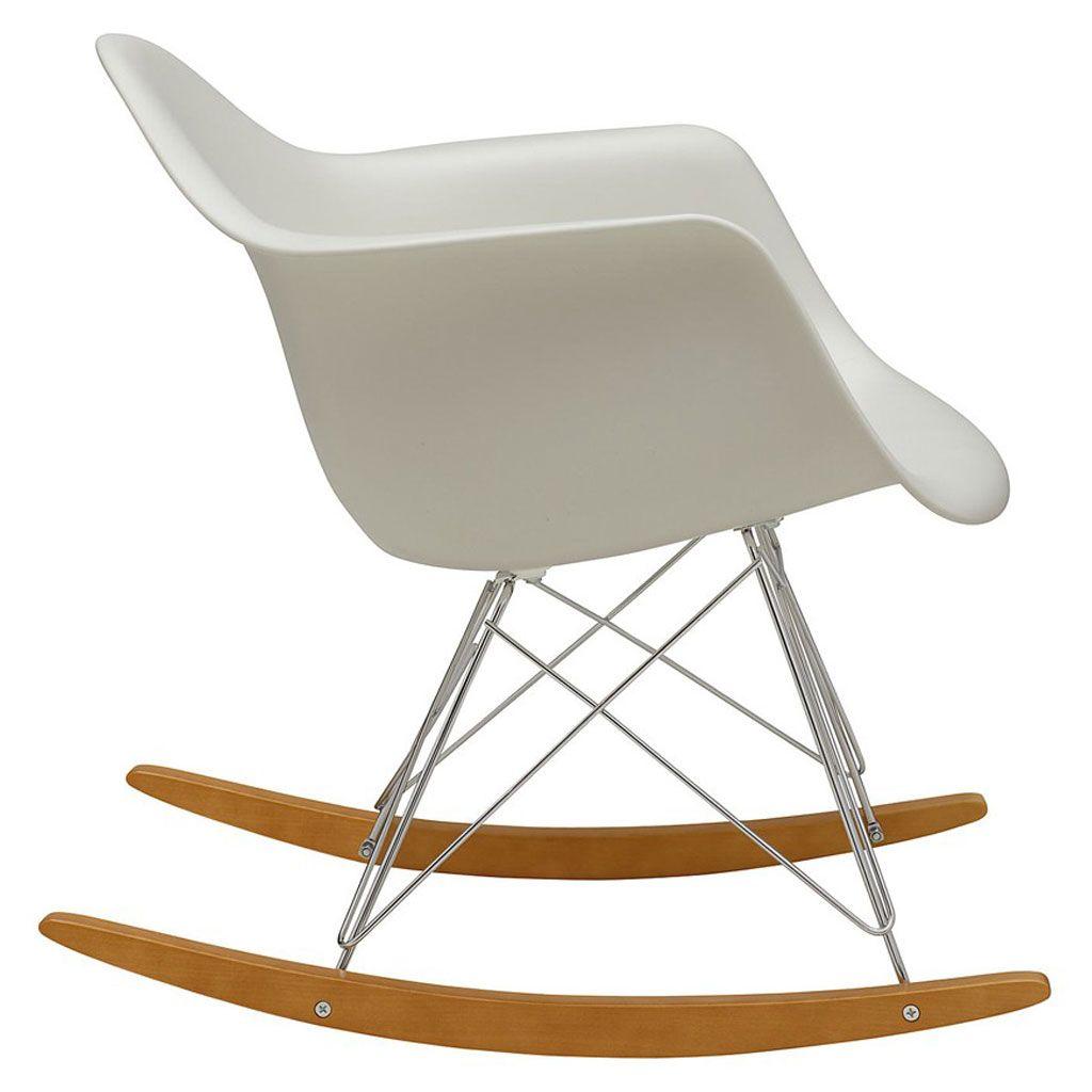 Rar Plastic Armchair White By Vitra Rocking Chair Eames Traditional Rocking Chairs