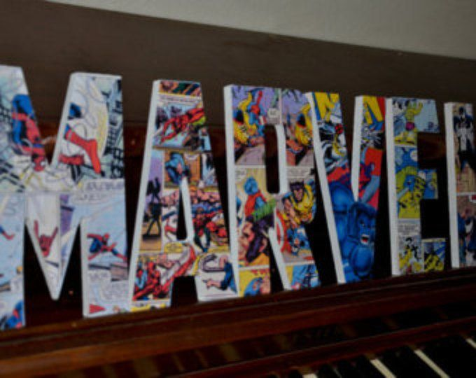 Marvel Superhero Letters  custom made name letters Xmen wooden letter marvel