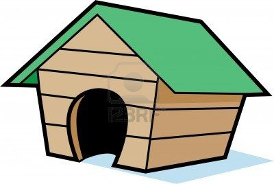 Stock Vector Dog Houses Cartoon Clip Art