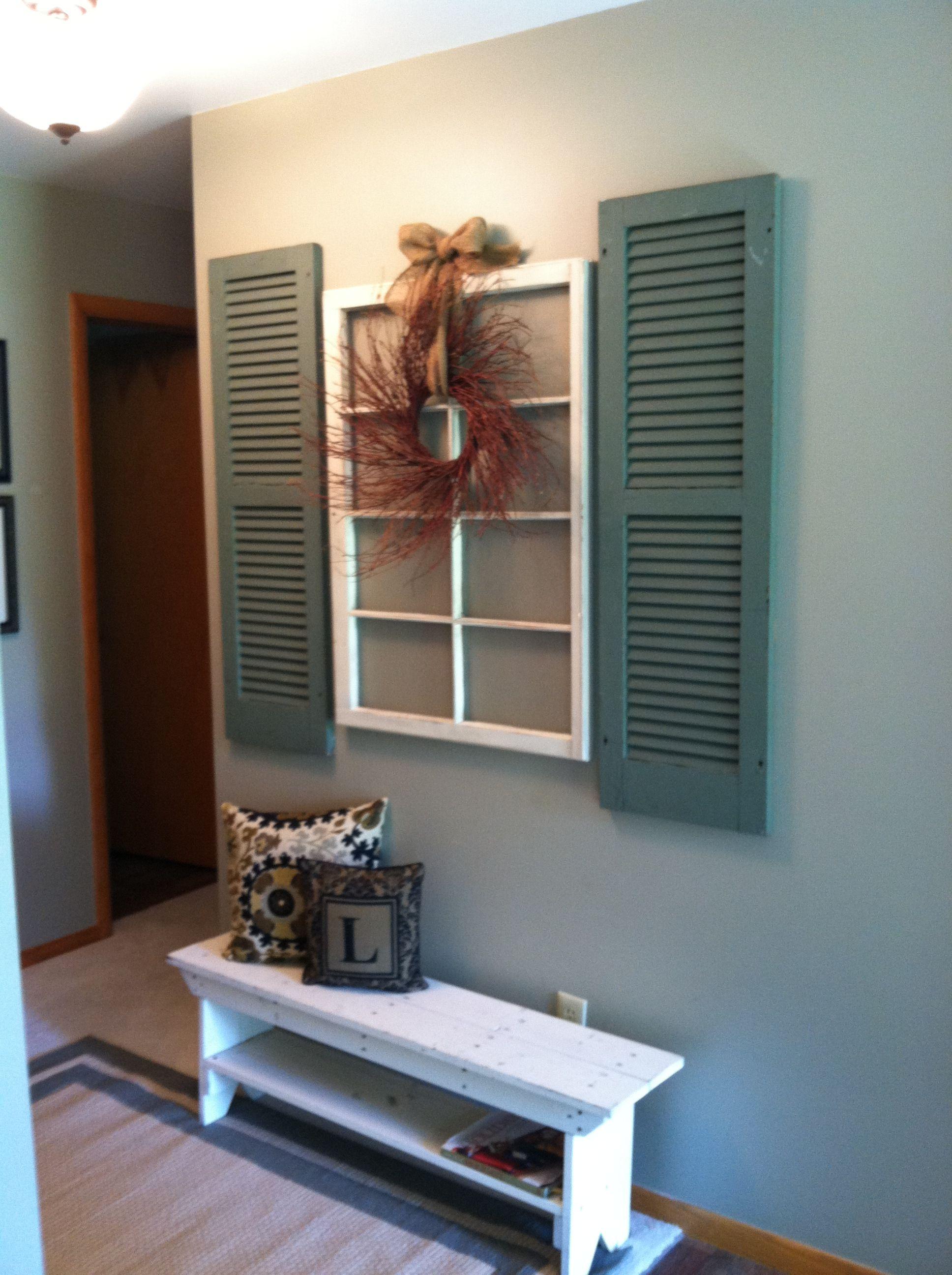 Window pane ideas  simple decor for an entry way  window frame ideas  pinterest  an