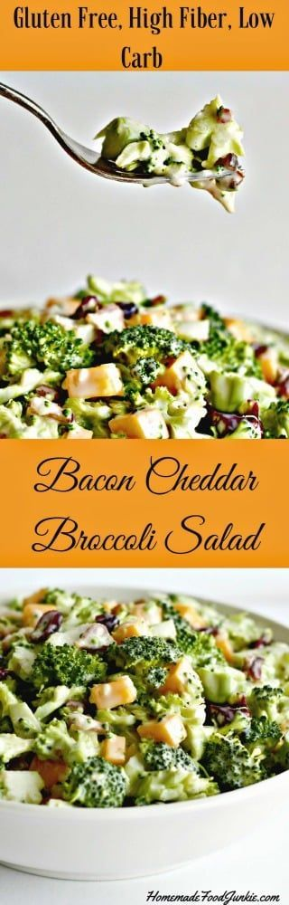 Bacon Cheddar Broccoli Salad is gluten free and low carb ...