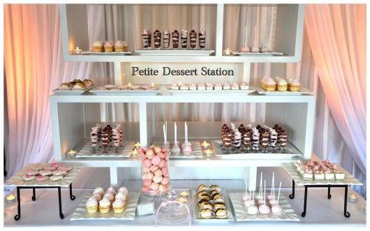 Dessert station using shelves
