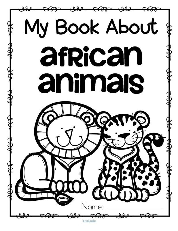 Set Of 12 Activity Pages About African Animals Hippopotamus Elephant Lion Ostrich Gorilla Zebra Giraffe Rhinoceros Crocodile Cheetah And Flamingo