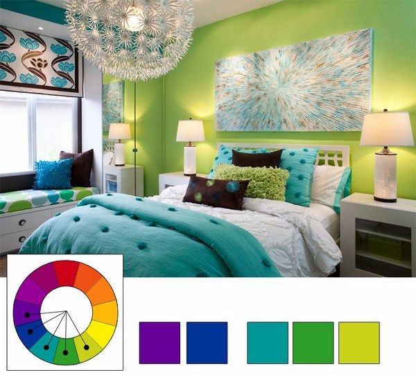 teal color schemes for bedrooms color shemes analogous colors in bedroom design interior 19942