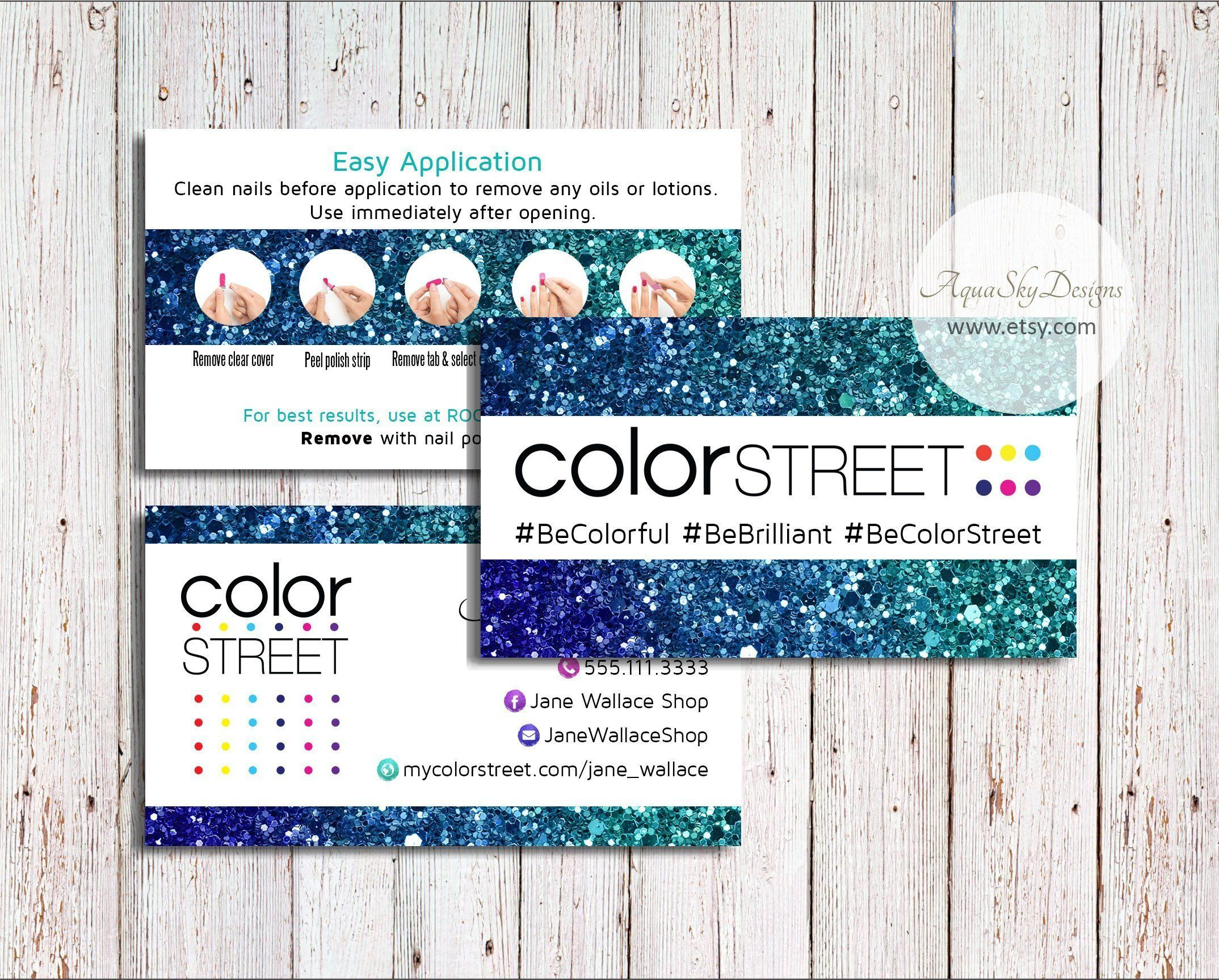 Color Street Business Cards Color Street Download Custom Colorstreet Business C Colorful Business Card Business Card Design Inspiration Printing Business Cards