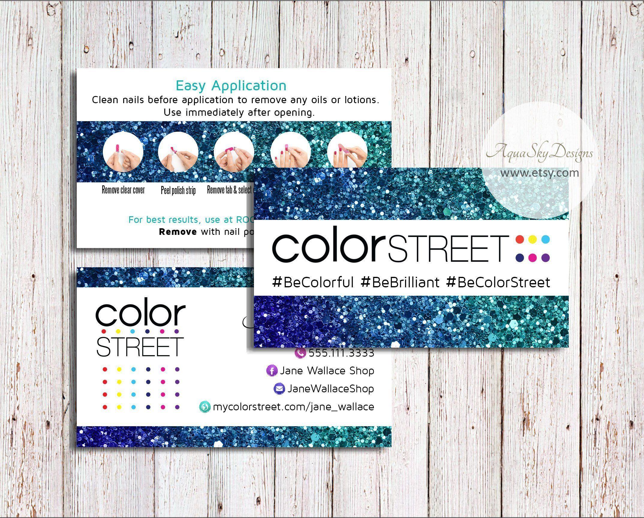 Color street business cards color street download custom