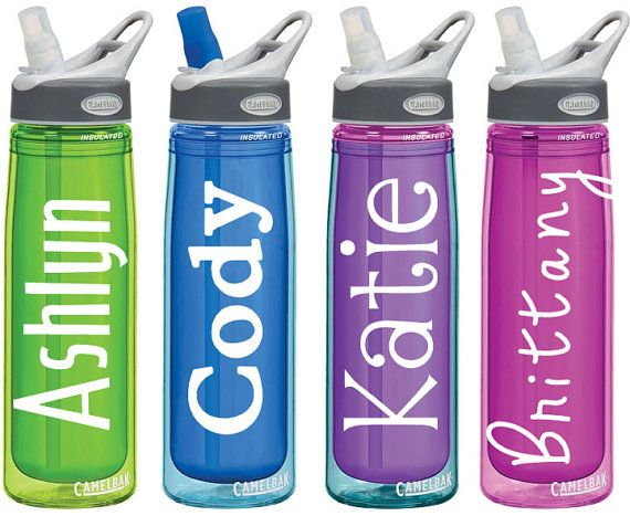 Name Decals For Personalized Water Bottles Or Tumblers 2x4 Etsy Personalized Water Bottles Water Bottle Bottle