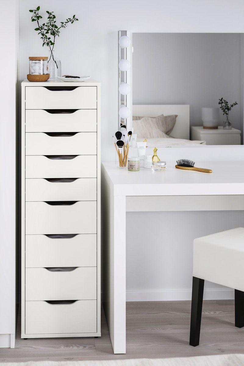 ALEX Schubladenelement, 9 Schubladen weiß IKEA