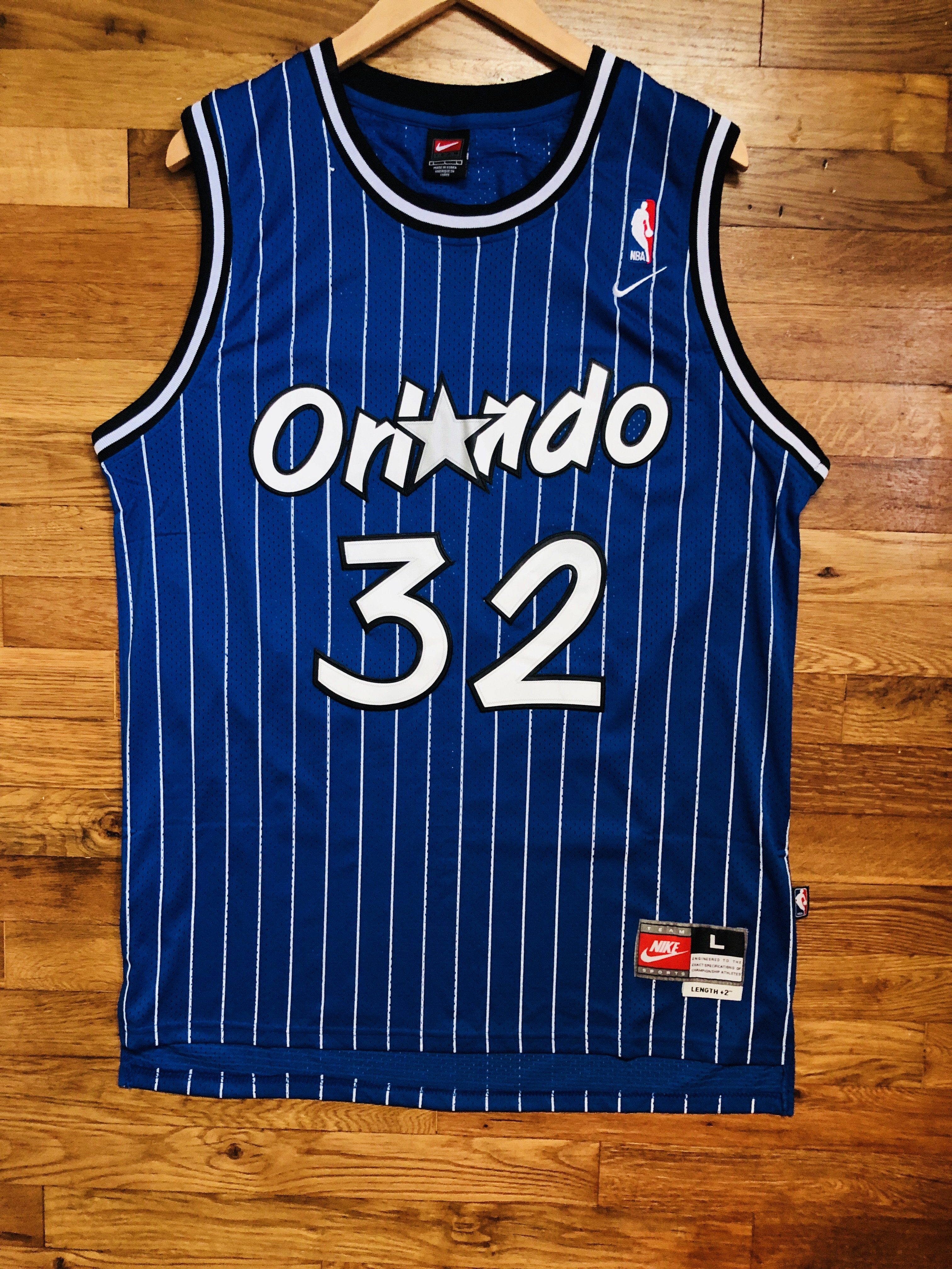 b0c30445 Shaquille O'Neal Orlando Magic Retro Nike NBA Jersey Large ...