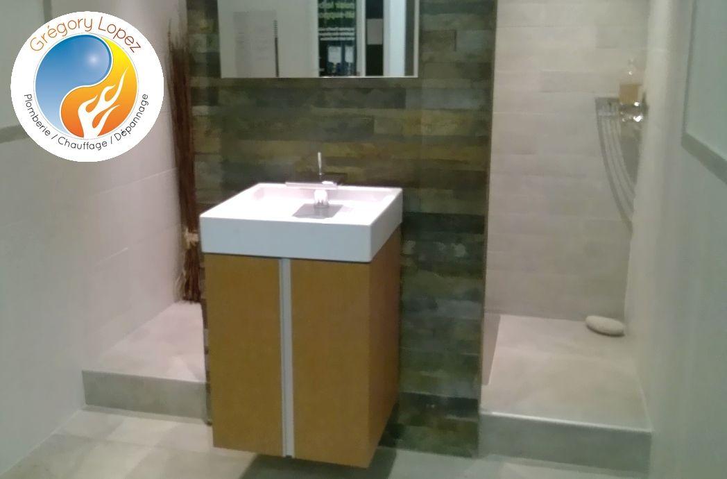 Photo d'une rénovation de salle de ban dans l'Hérault