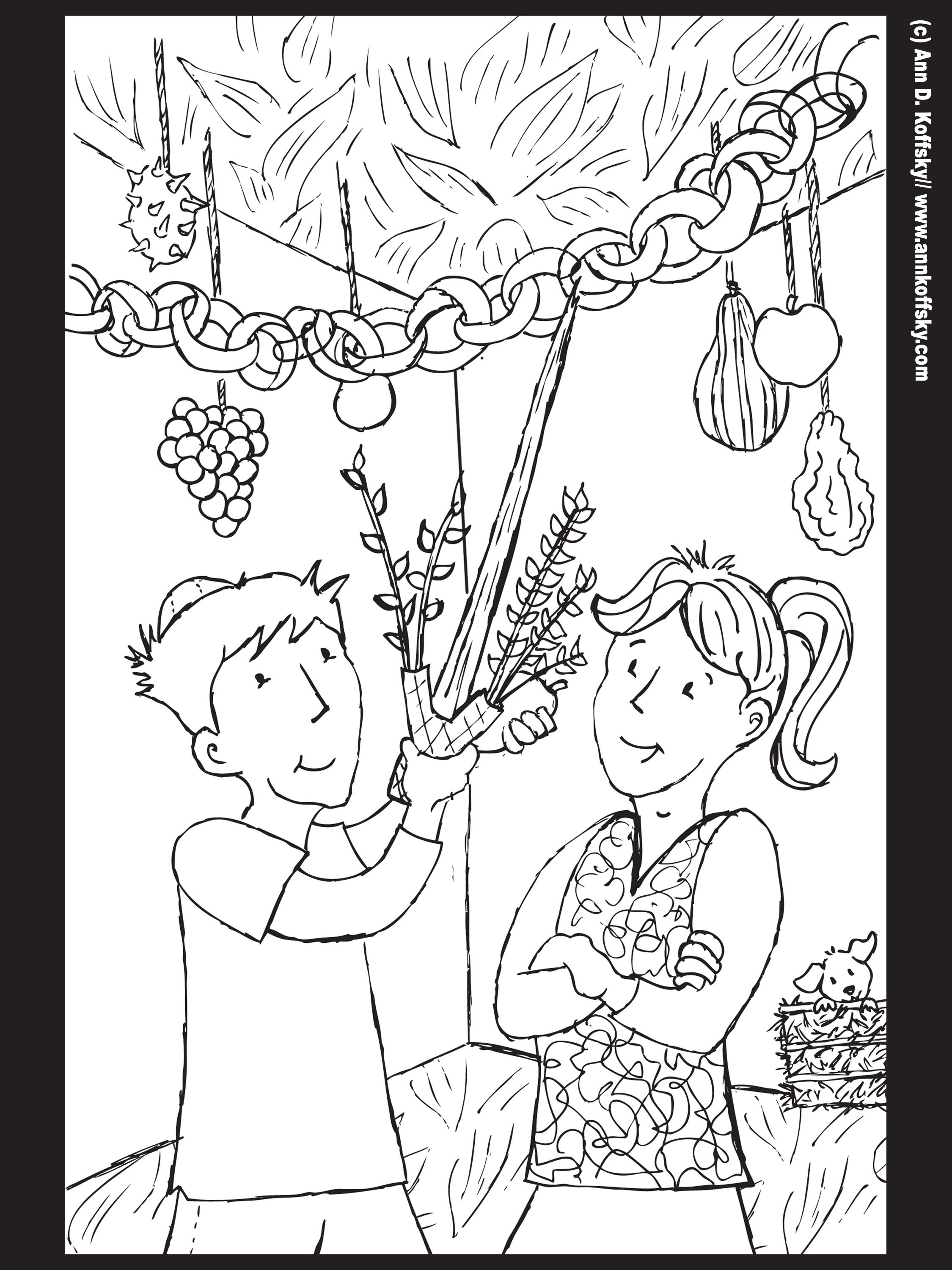 Sukkot coloring page Celebrating the Feasts Pinterest