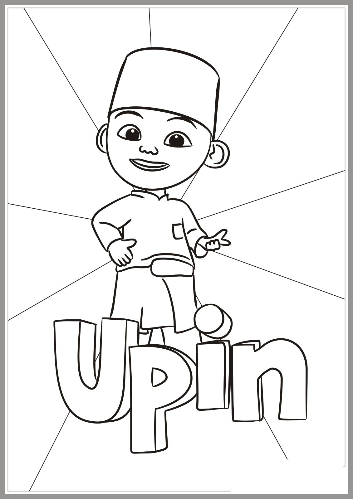 Upin Ipin Coloring Pages Plete