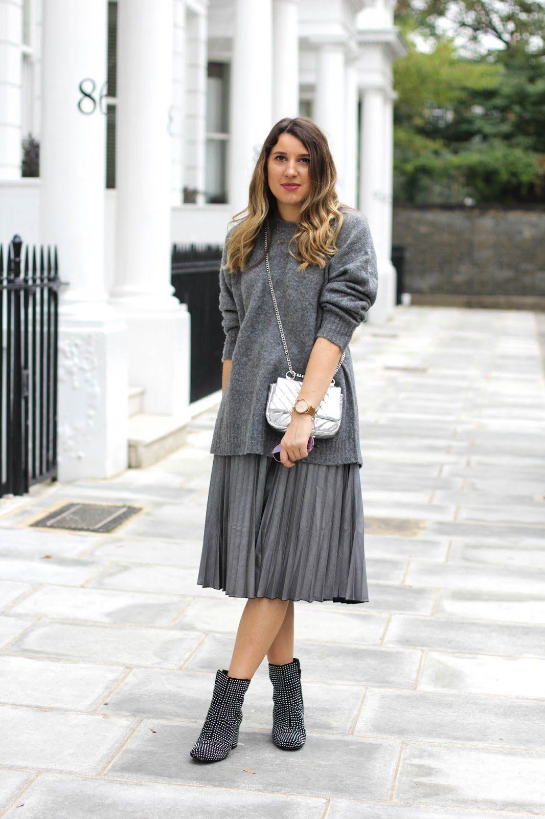 1d40fefbc299 С чем носить плиссированную юбку? (50 фото) — Лучшие идеи образов ...