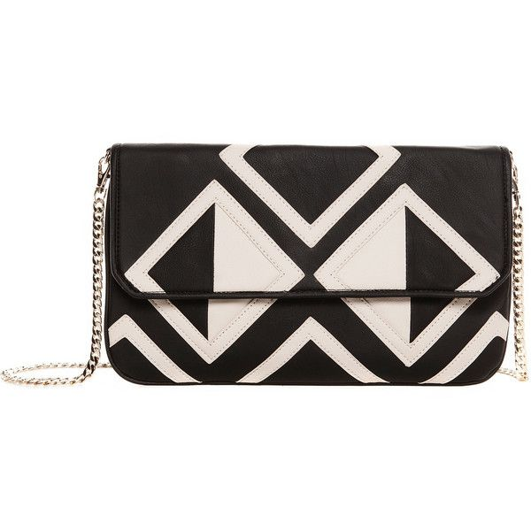 Pull & Bear Geometrics Clutch (81 BRL) ❤ liked on Polyvore featuring bags, handbags, clutches, bolsas, purses, black, hand bags, geometric purse, handbag purse and man bag